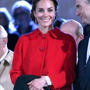 Zara red coat size Small same as Kate Middleton